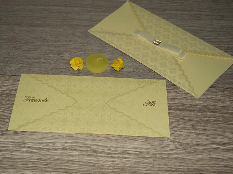 کارت عروسی کلاسیک - کد ARG-729