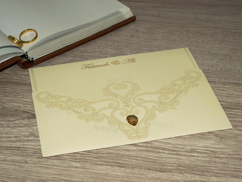 کارت عروسی کلاسیک - کد ARG-684