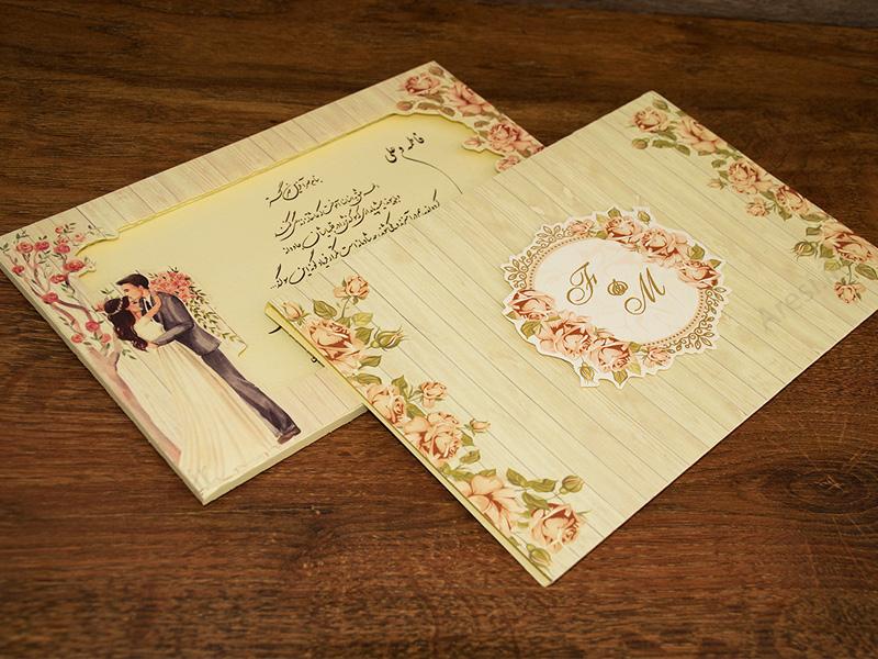 کارت عروسی نفیس حجمی - کد ARG-772