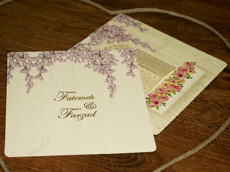 کارت عروسی لاکچری - کد ARG-748